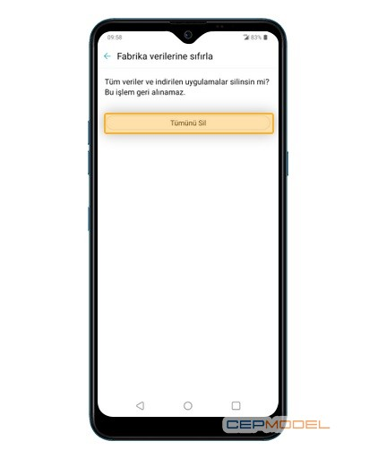 lg fabrika ayarlarina donma sifirlama 4 - LG Android Telefonları Fabrika Ayarlarına Döndürme