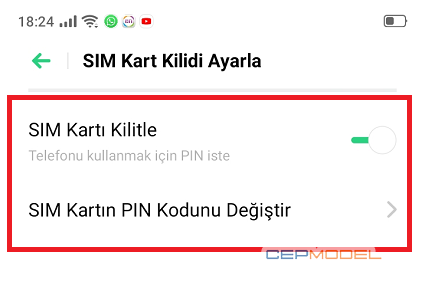 Realme pin kodu degistirme 2 - Realme Telefonlarda Pin/SIM Kodu Değiştirme ve Kaldırma