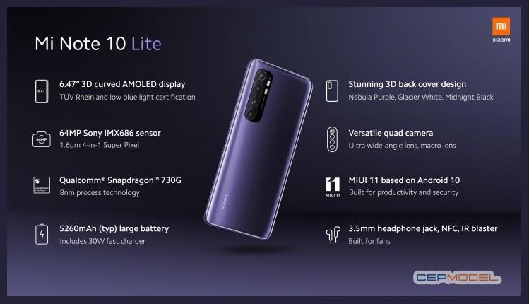 Xiaomi Mi Note 10 Lite 3 - Uygun Fiyatlı Xiaomi Mi Note 10 Lite Tanıtıldı