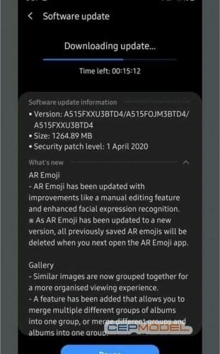 Samsung galaxy a51 yeni guncelleme nisan 2020 - Samsung Galaxy A51 için One UI 2.1 ve Nisan Güvenlik Güncellemesi Yayınlandı